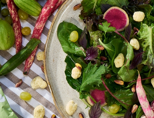 Spring Salad with Grapes and Pistachio